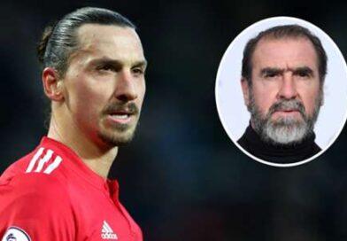 Ibrahimovic disse a Cantona que seria o 'deus de Manchester' depois que a lenda do Man Utd disparou um aviso de 'rei'